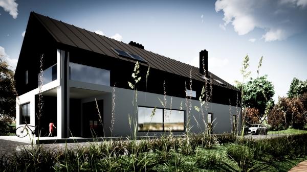 Architektura - budynek mieszkalny na wsi - Niestkowo k. Ustki