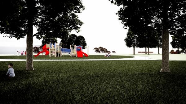 Architektura krajobrazu - park - gmina Słupsk